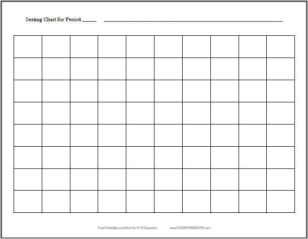 seating chart 8 10 horizontal
