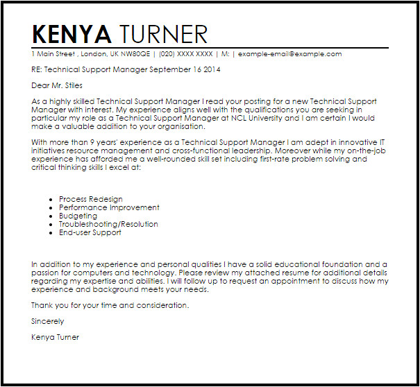technical support manager