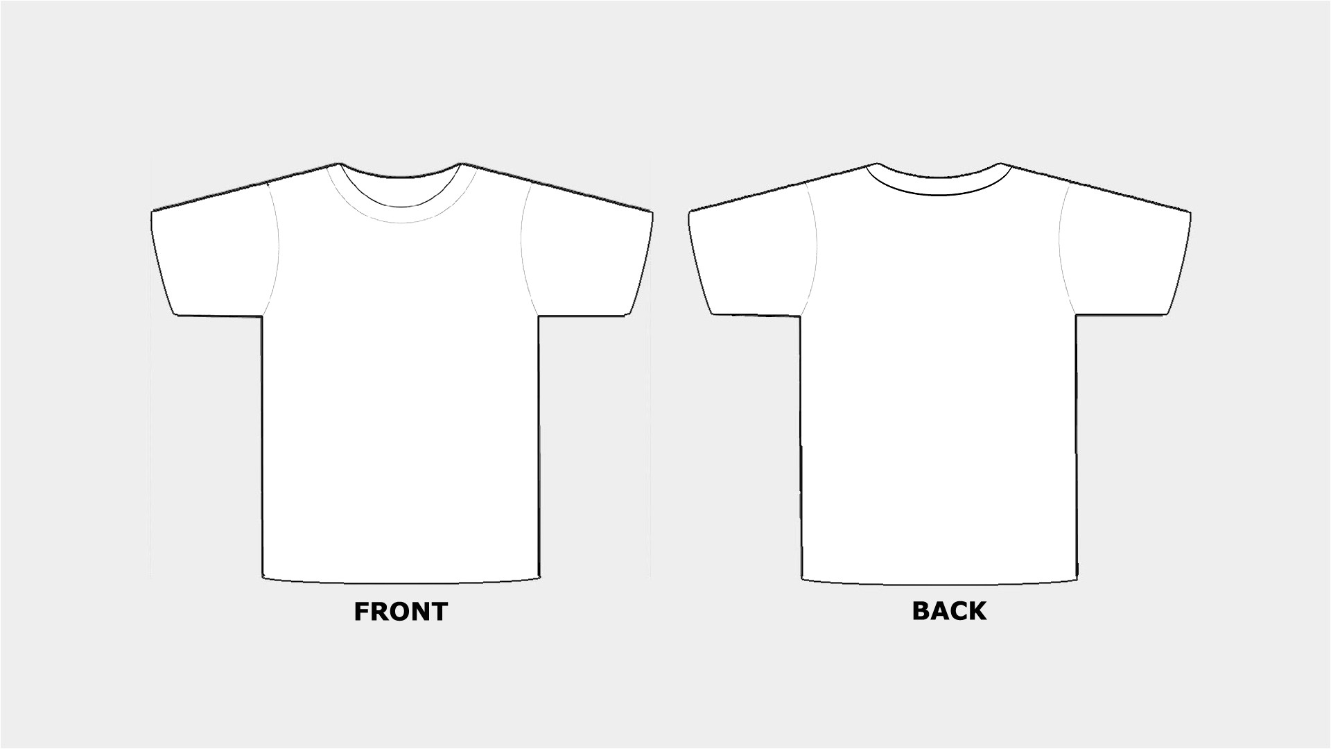 blank tshirt template printable hd