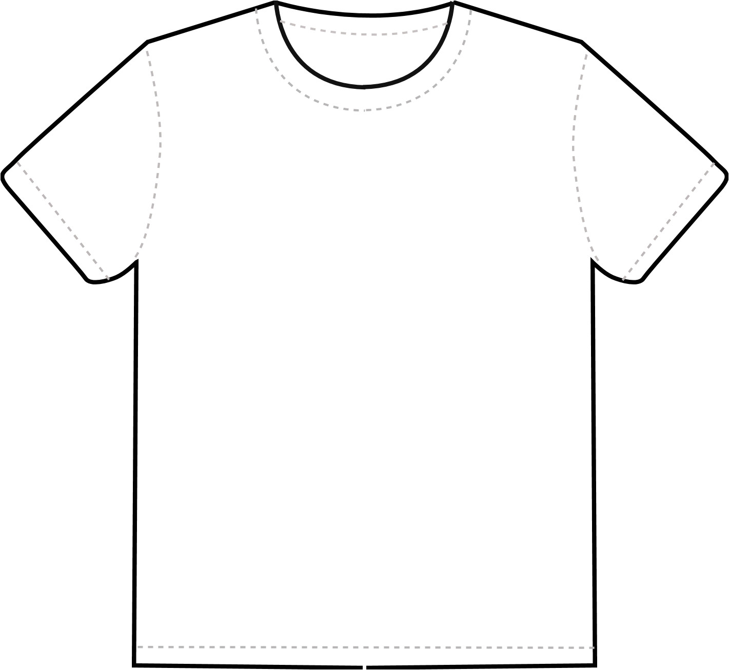 t shirt template printable