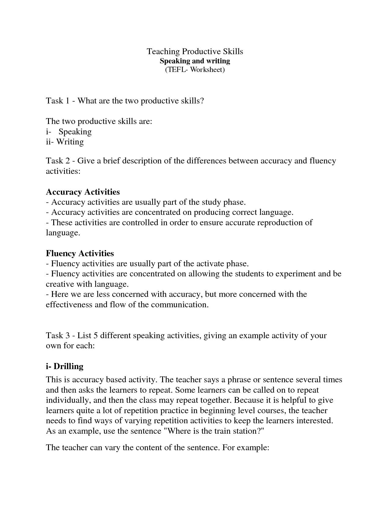 Tefl Cover Letter Example 12 Best Images Of Grammar Cover Worksheet 1st Grade