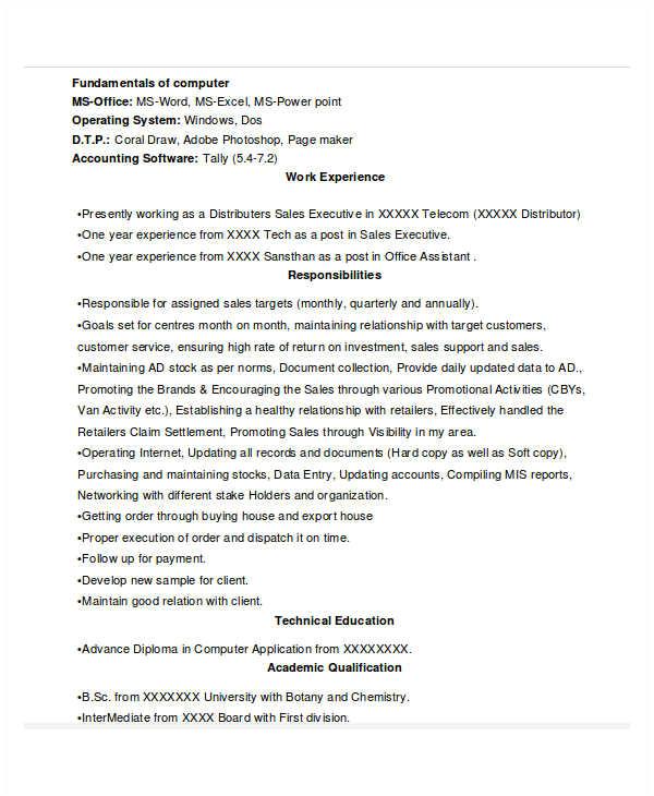 sales resume templates