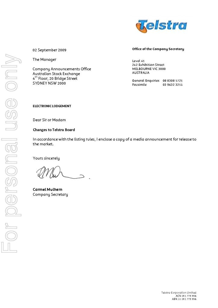 Telstra Cover Letter Telstra Cover Letter Find Resume Template Free Template