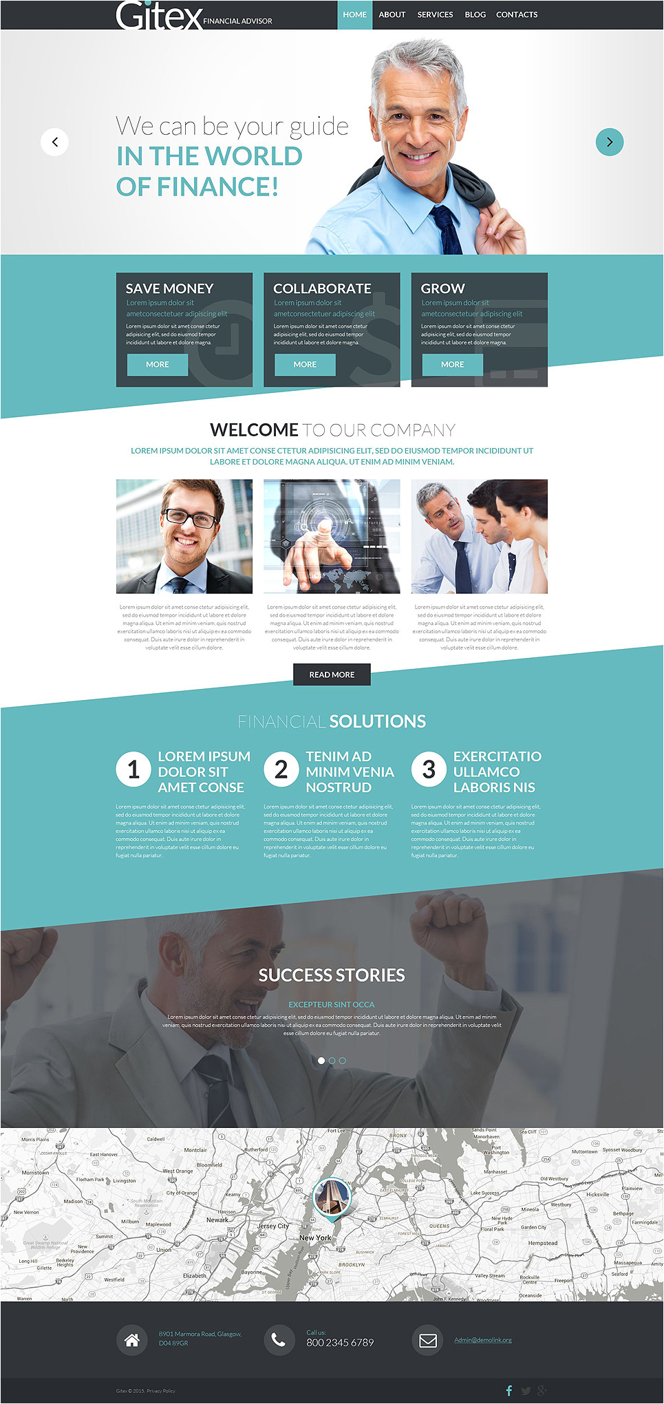 Templat Monster Financial Advisor Joomla Template