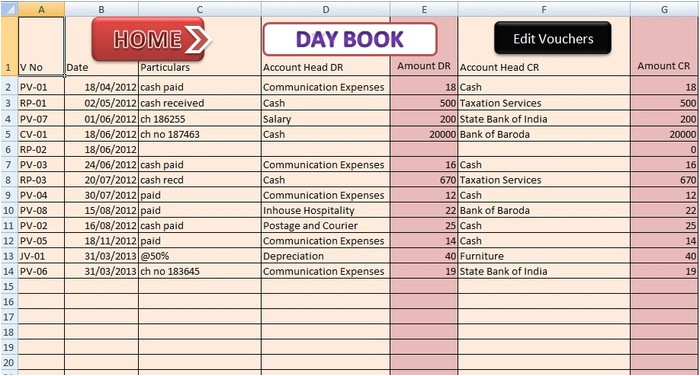 red small business accounting excel templates