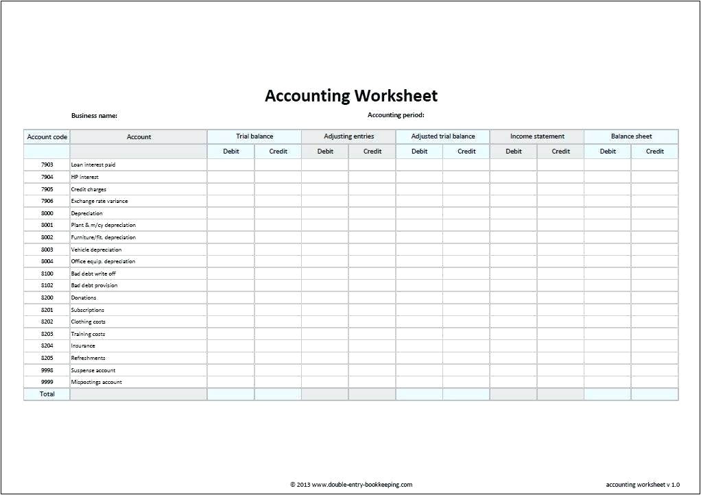 simple accounting template screenshot general ledger excel free