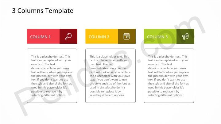 3 columns powerpoint template