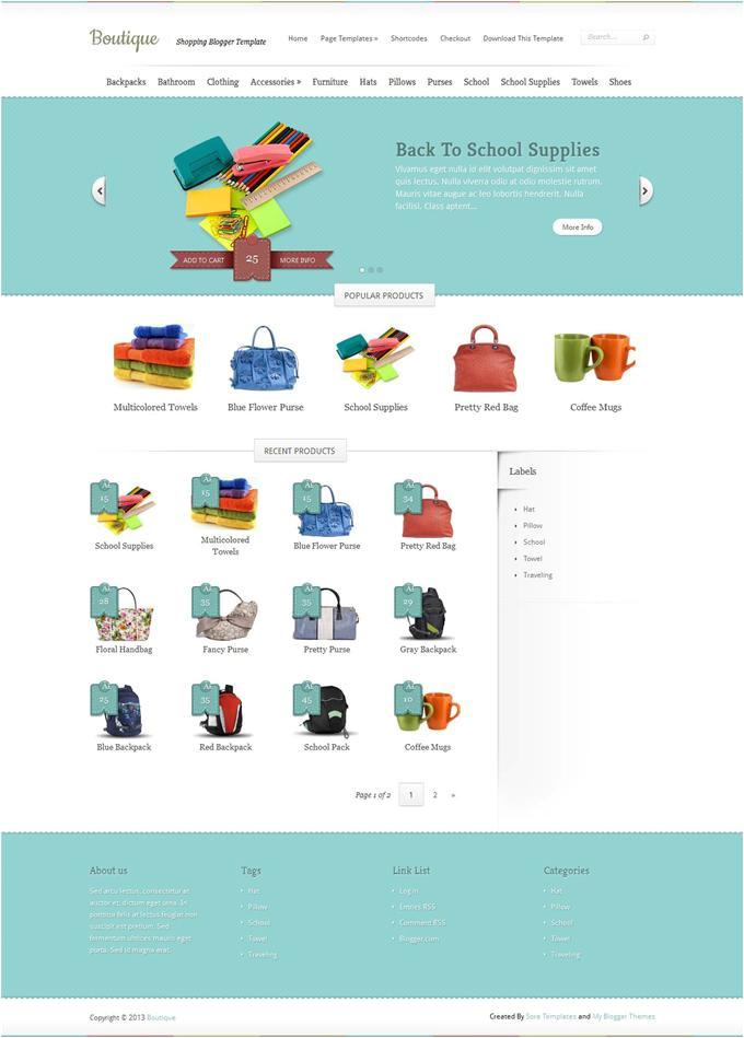 ecommerce blogger templates