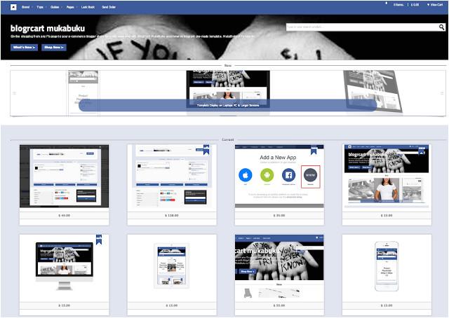 mukabuku responsive ecommerce blogger template