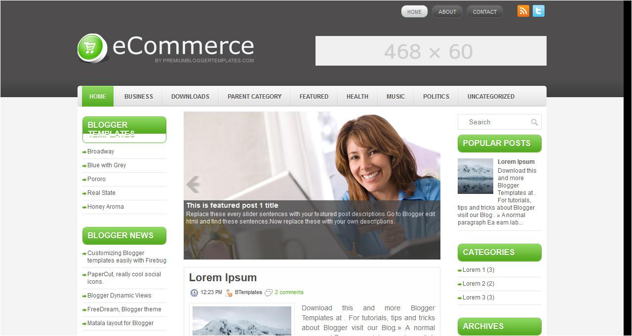 Template Ecommerce Blogspot Template Ecommerce Blogspot Images Template Design Ideas