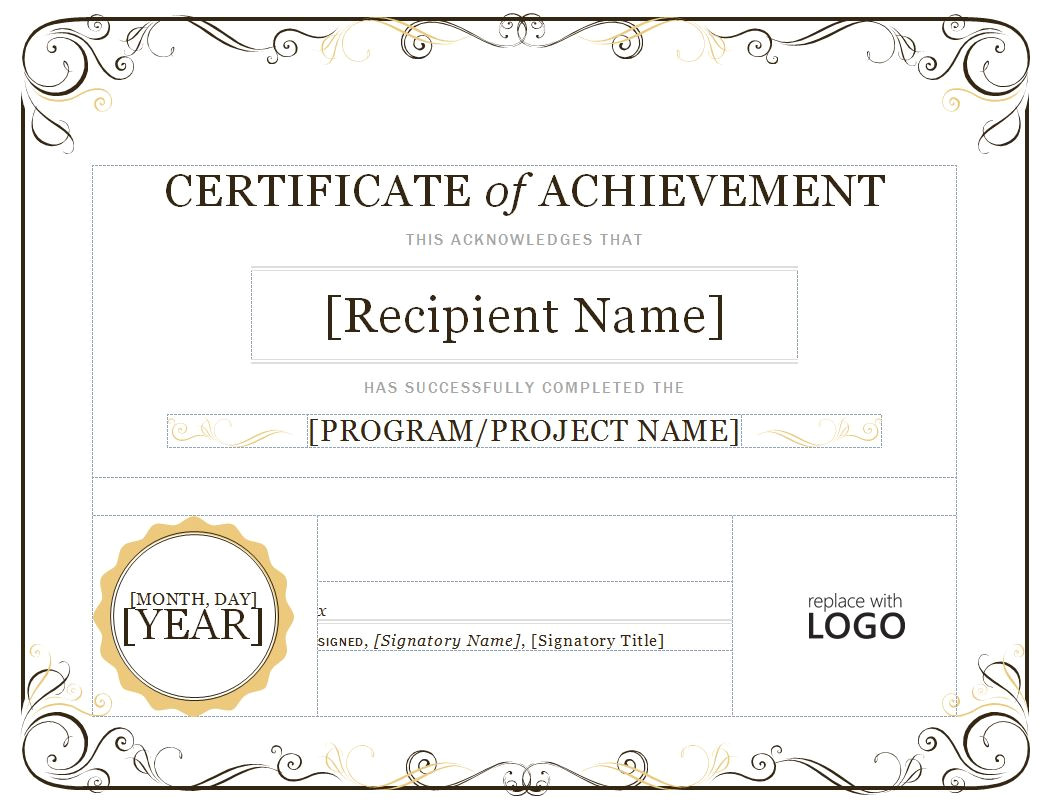 certificate of achievement quotes