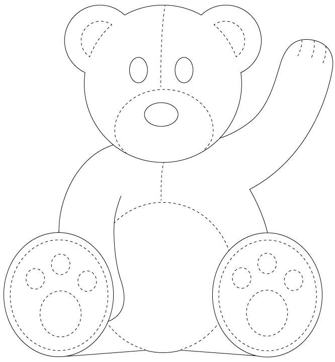 Template for A Teddy Bear Best 25 Teddy Bear Template Ideas On Pinterest Bear