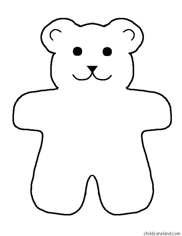 Template for A Teddy Bear Free Printable Teddy Bear Patterns Wow Com Image