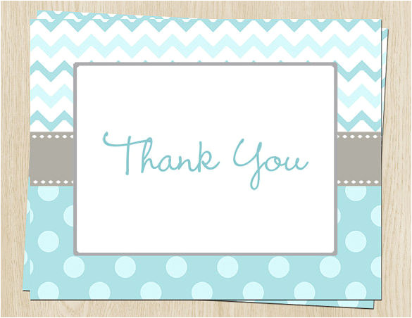 collectionfdwn free baby shower thank you card template