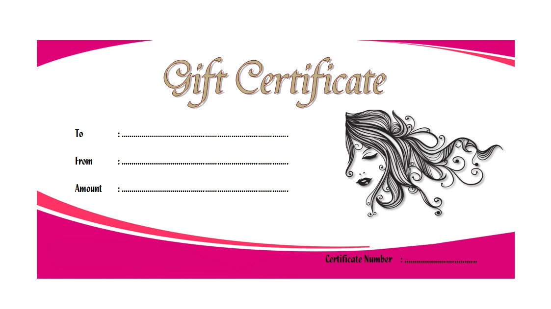 spa gift certificate template 1