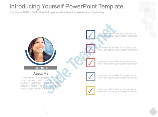 introducing yourself powerpoint template