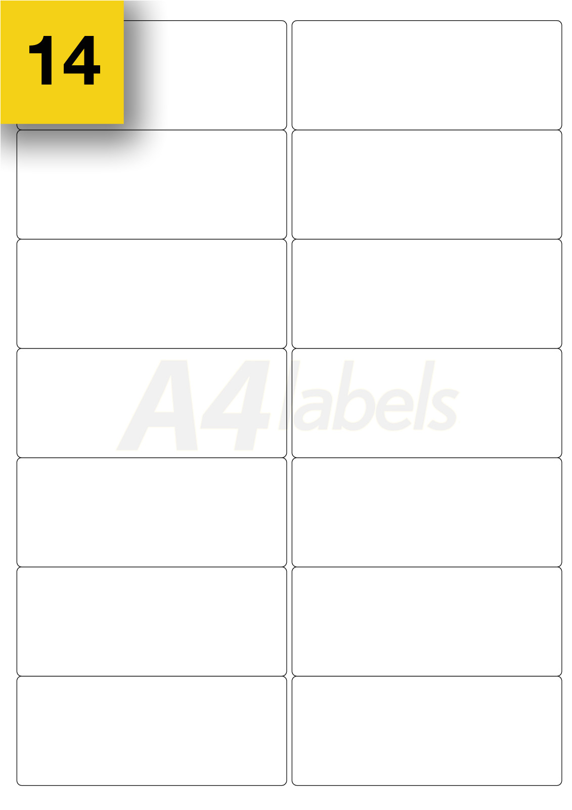Template for Labels 14 Per Sheet Small Round 19mm Diameter A4 Laser Printer Labels 20