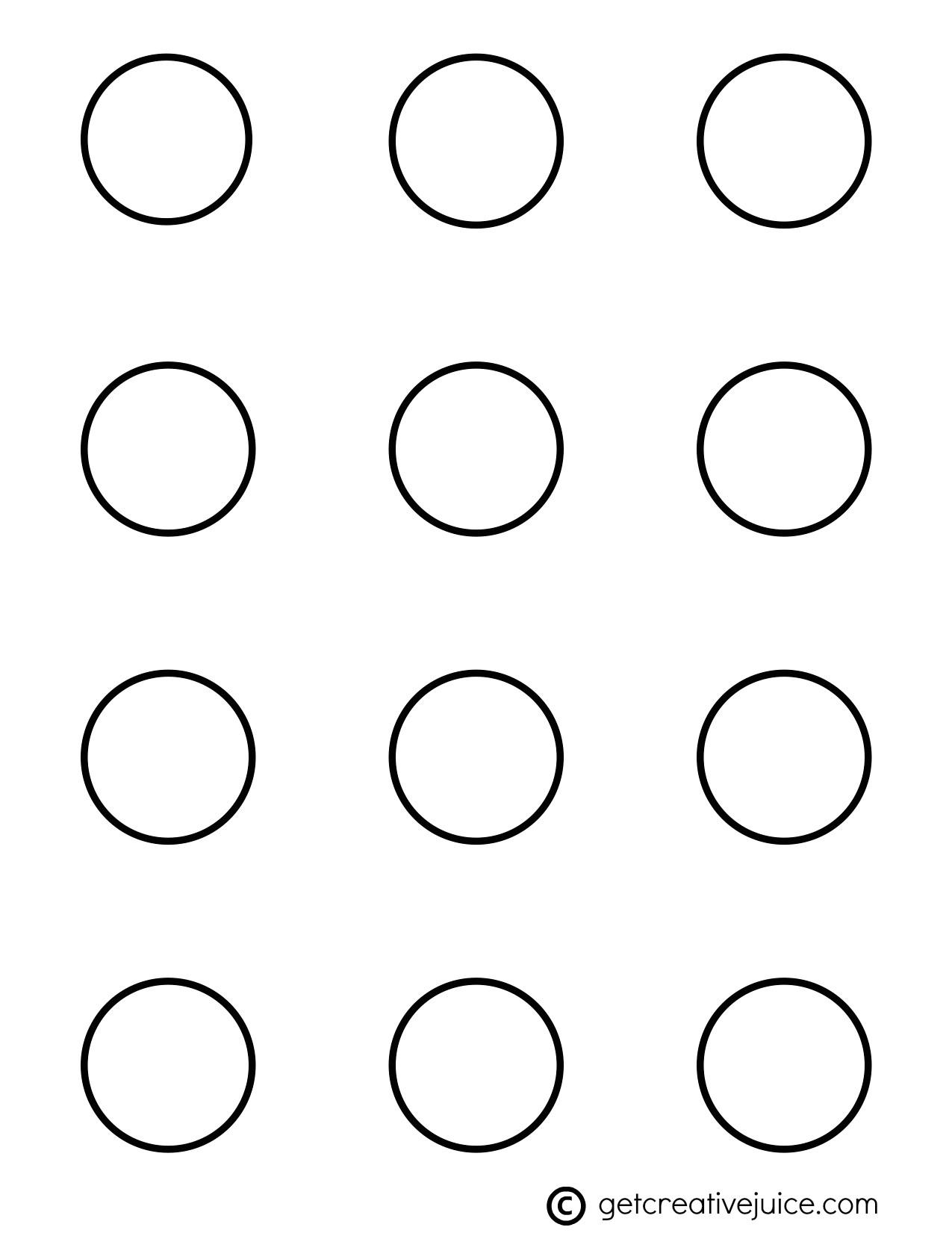 macarons basic printable template