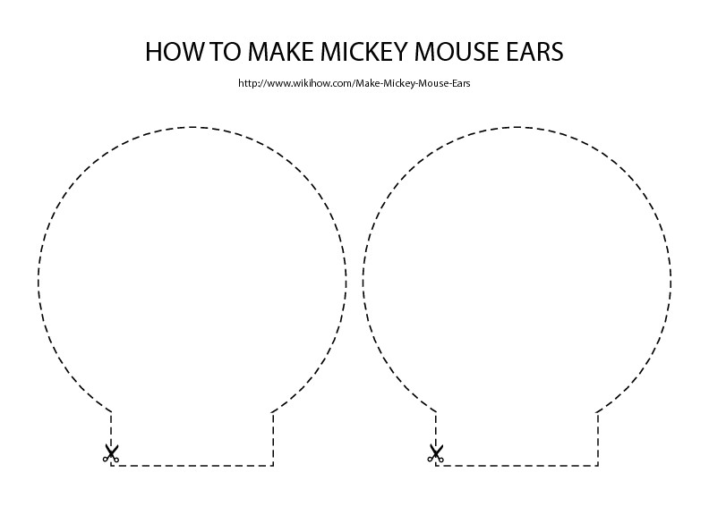 Template for Minnie Mouse Ears Free Download for Mickey Mouse Ears Template Party