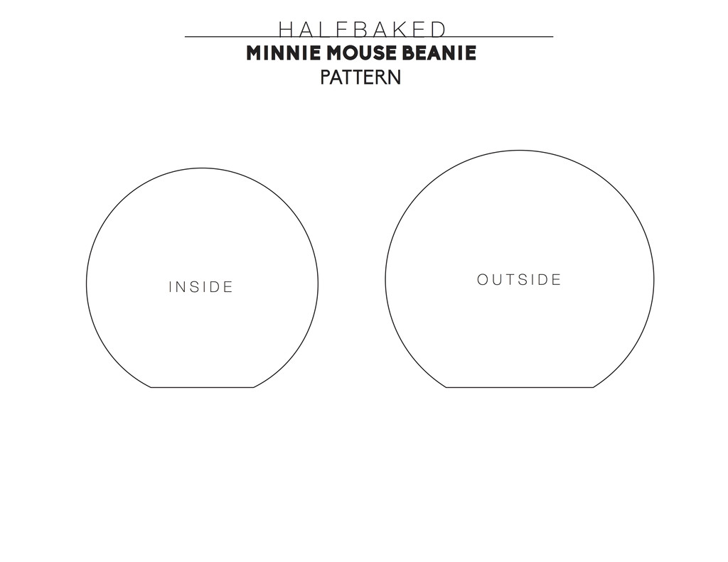 printable minnie mouse ears template