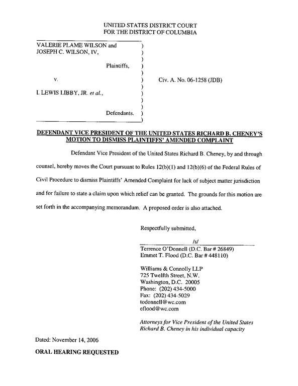 file defendant cheney 27s motion to dismiss pdf