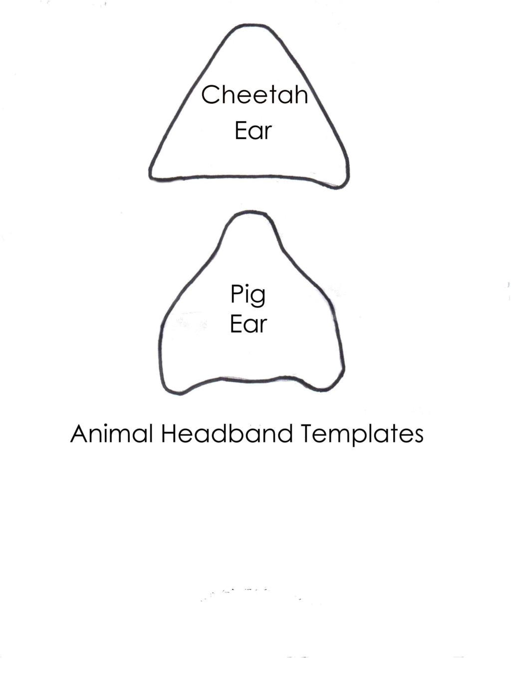 best photos of pig ear template pig ear template printable pig