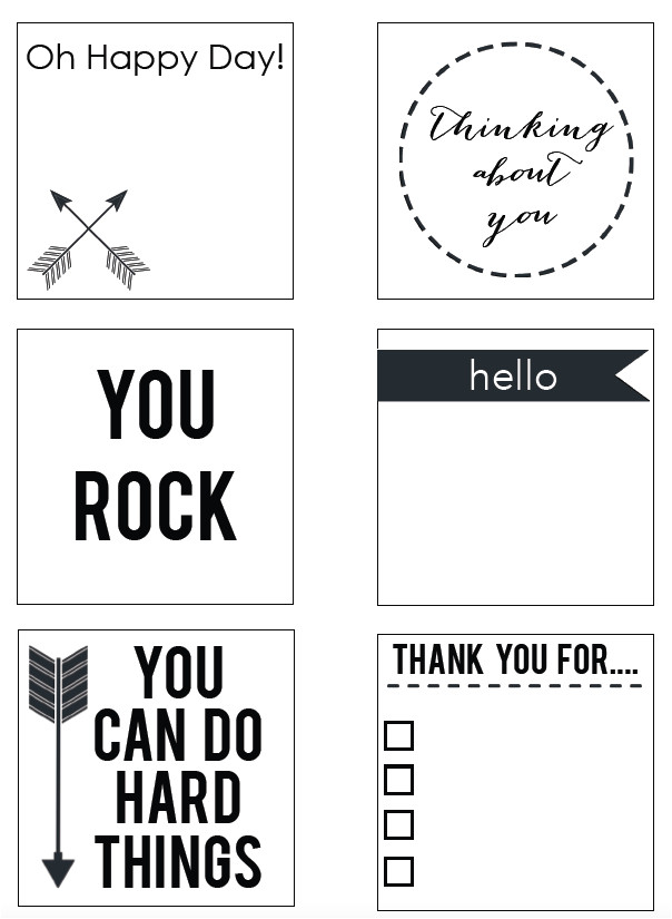 printable post notes