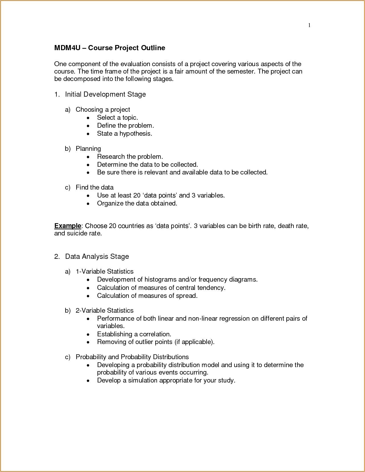 science fair outline
