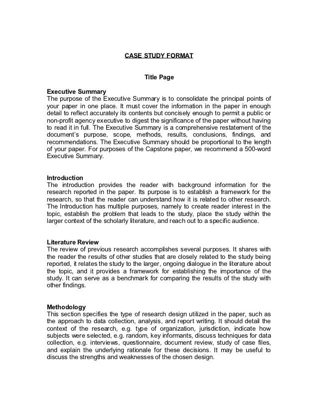 case study format 14949404