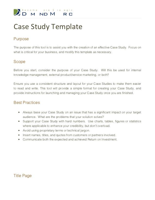 case study template 12316211