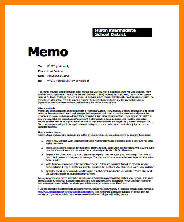 5 how to write a memo format