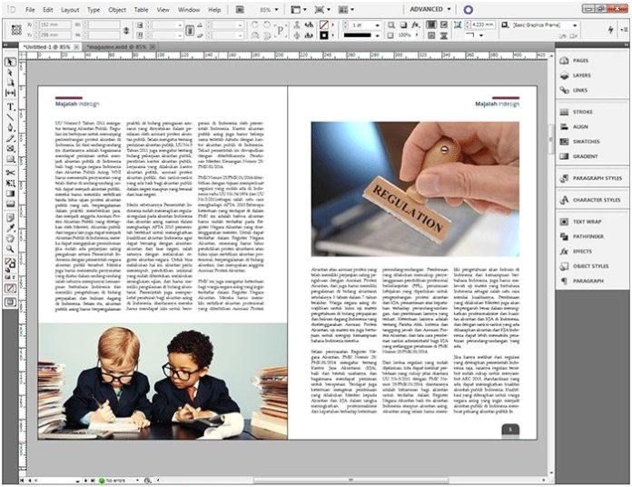 cara membuat layout majalah sederhana dengan indesign 2