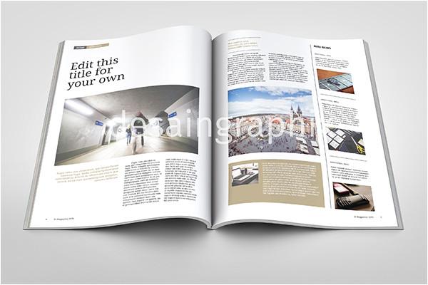 free template desain majalah format