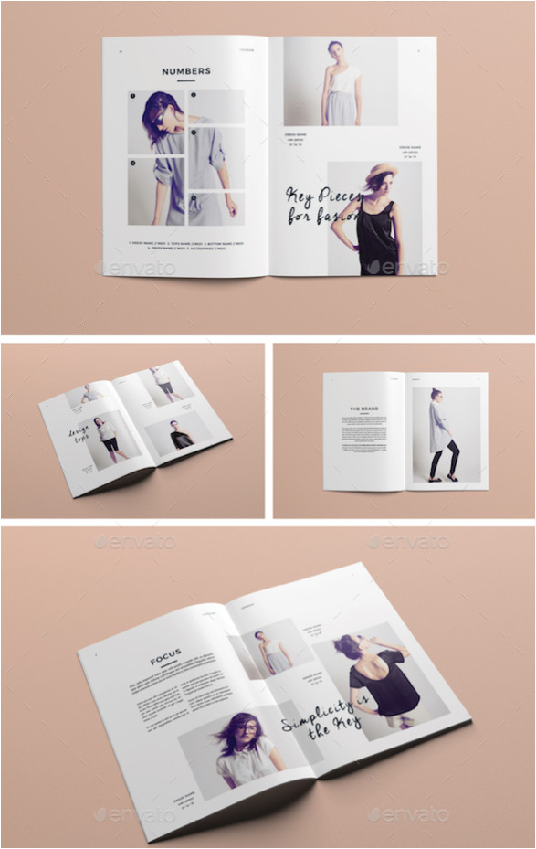 template layout majalah flyer template design with pink and spots background 6824382