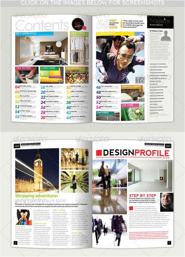 template layout majalah psd indesign magazine templates bshk 34