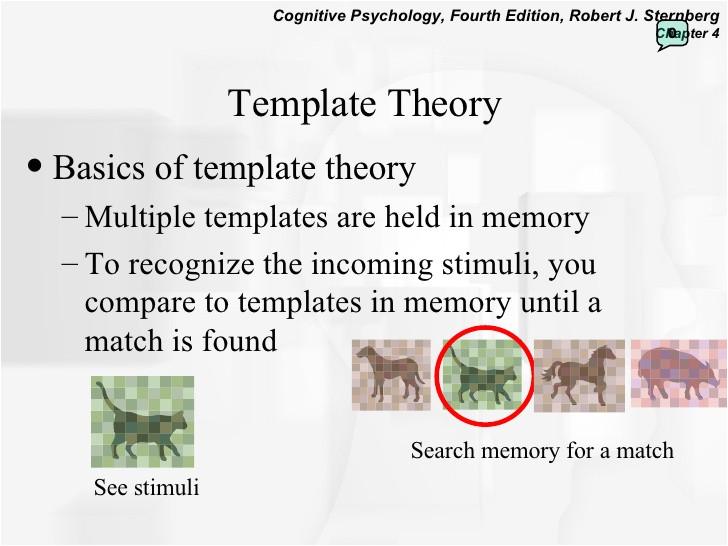 Template Matching theory Perception