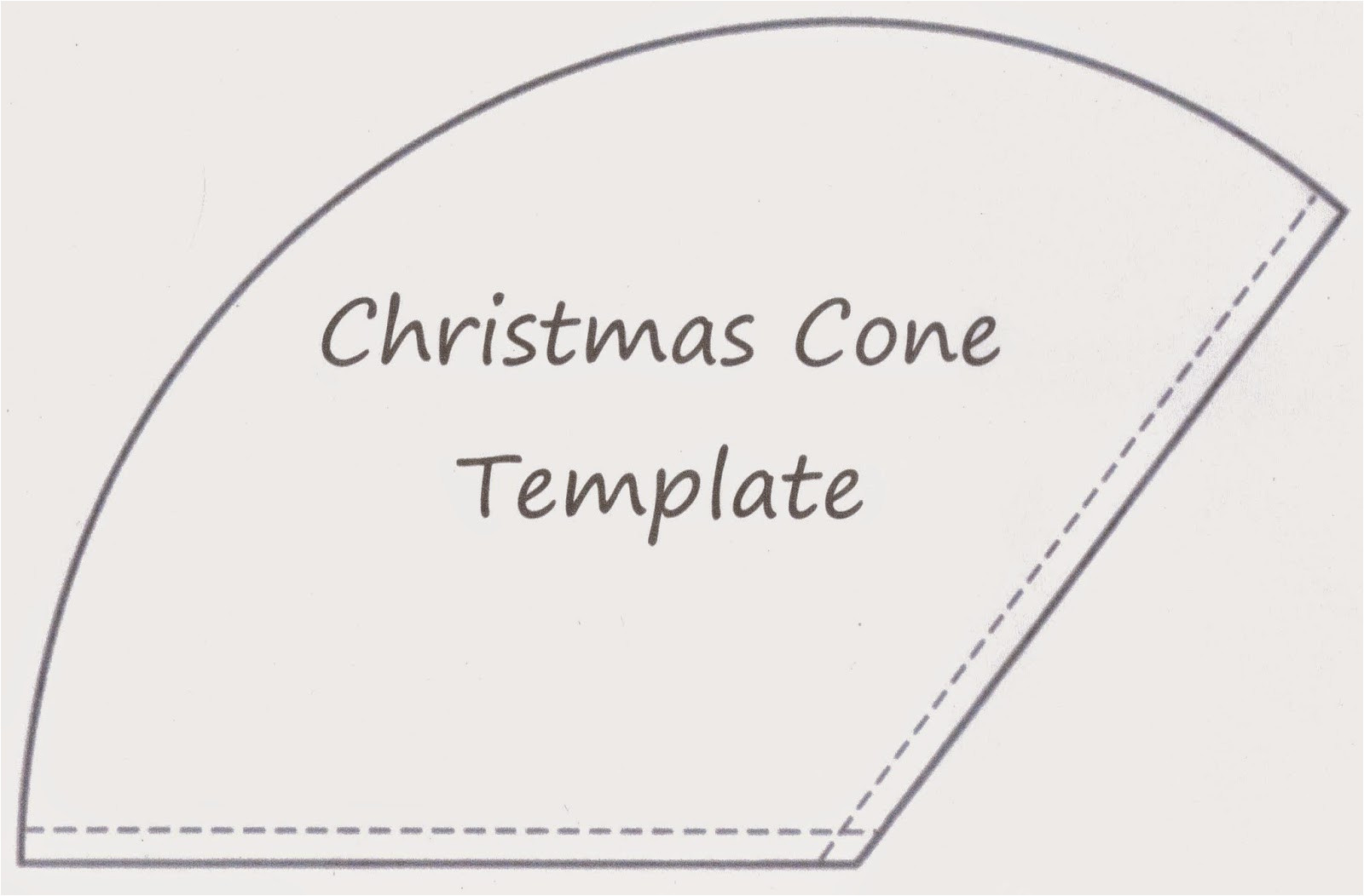 christmas gift cone tutorial
