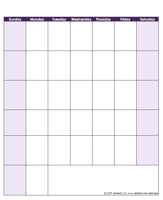 Templates by Vertex42.com 17 Best Ideas About Printable Blank Calendar On Pinterest
