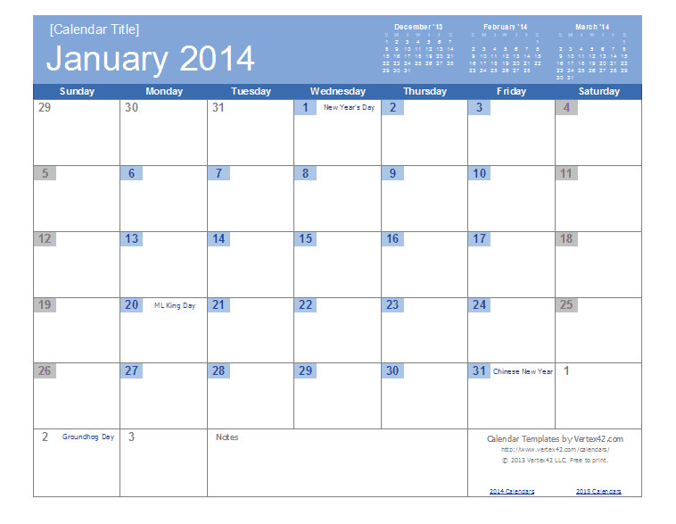 Templates for Calendars 2014 2014 Calendar Templates and Images Monthly and Yearly
