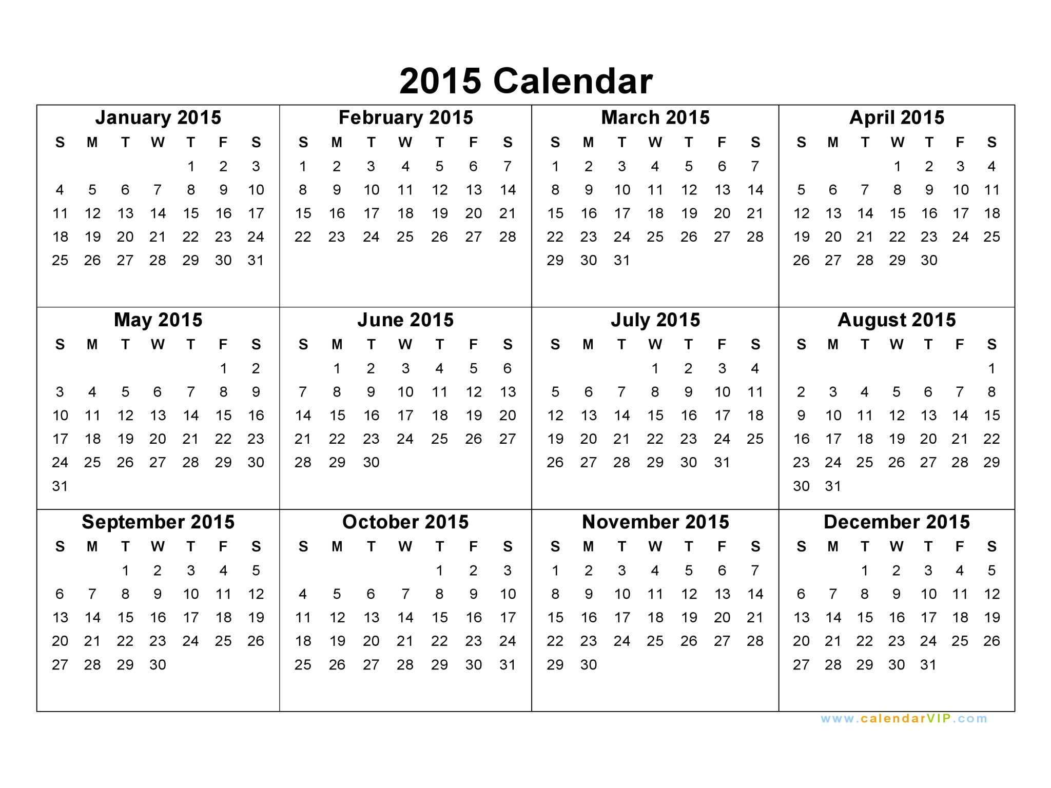Templates for Calendars 2015 2015 Calendar Blank Printable Calendar Template In Pdf