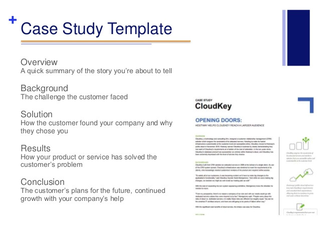 case study format word