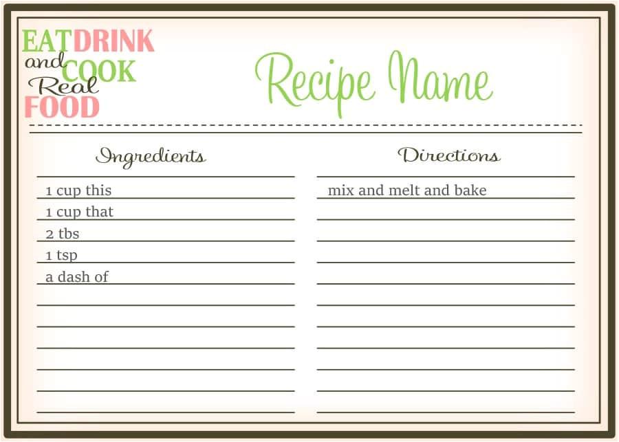Templates for Cookbooks 44 Perfect Cookbook Templates Recipe Book Recipe Cards