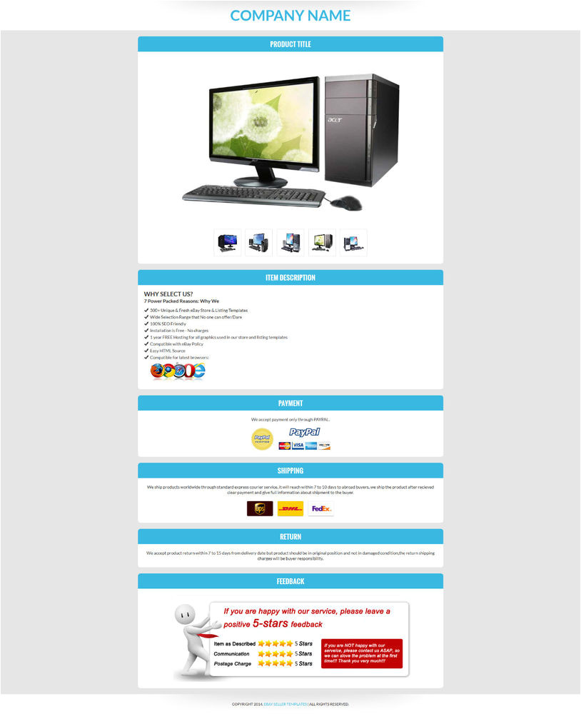 Templates for Ebay Listings Ebay Listing HTML Template Ebay Auction Templates Ebay
