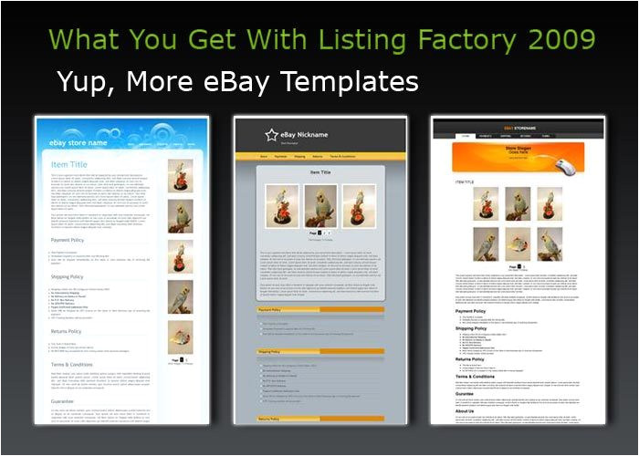 listing templates for ebay free