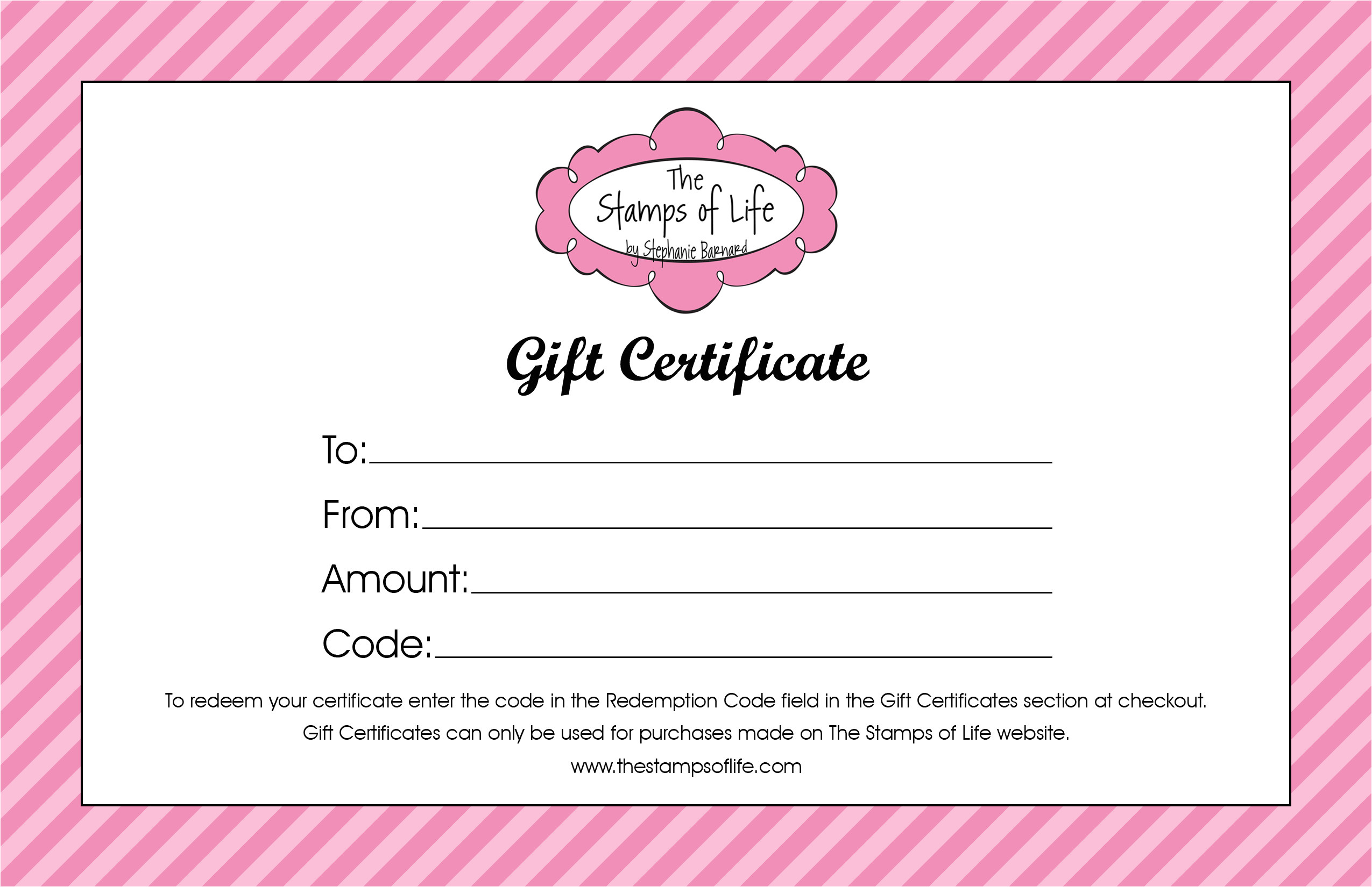 gift certificate template free download