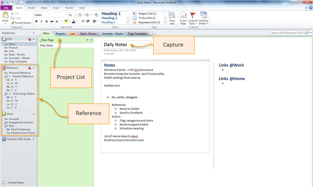 getting things done with outlook 2010 and onenote 2010 a brief overview