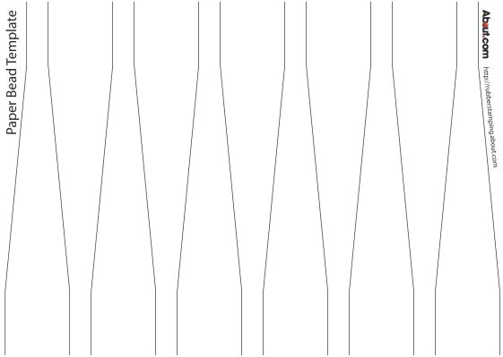 post round paper beads template 759223