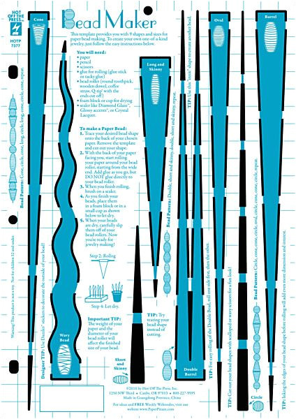 paper beads template