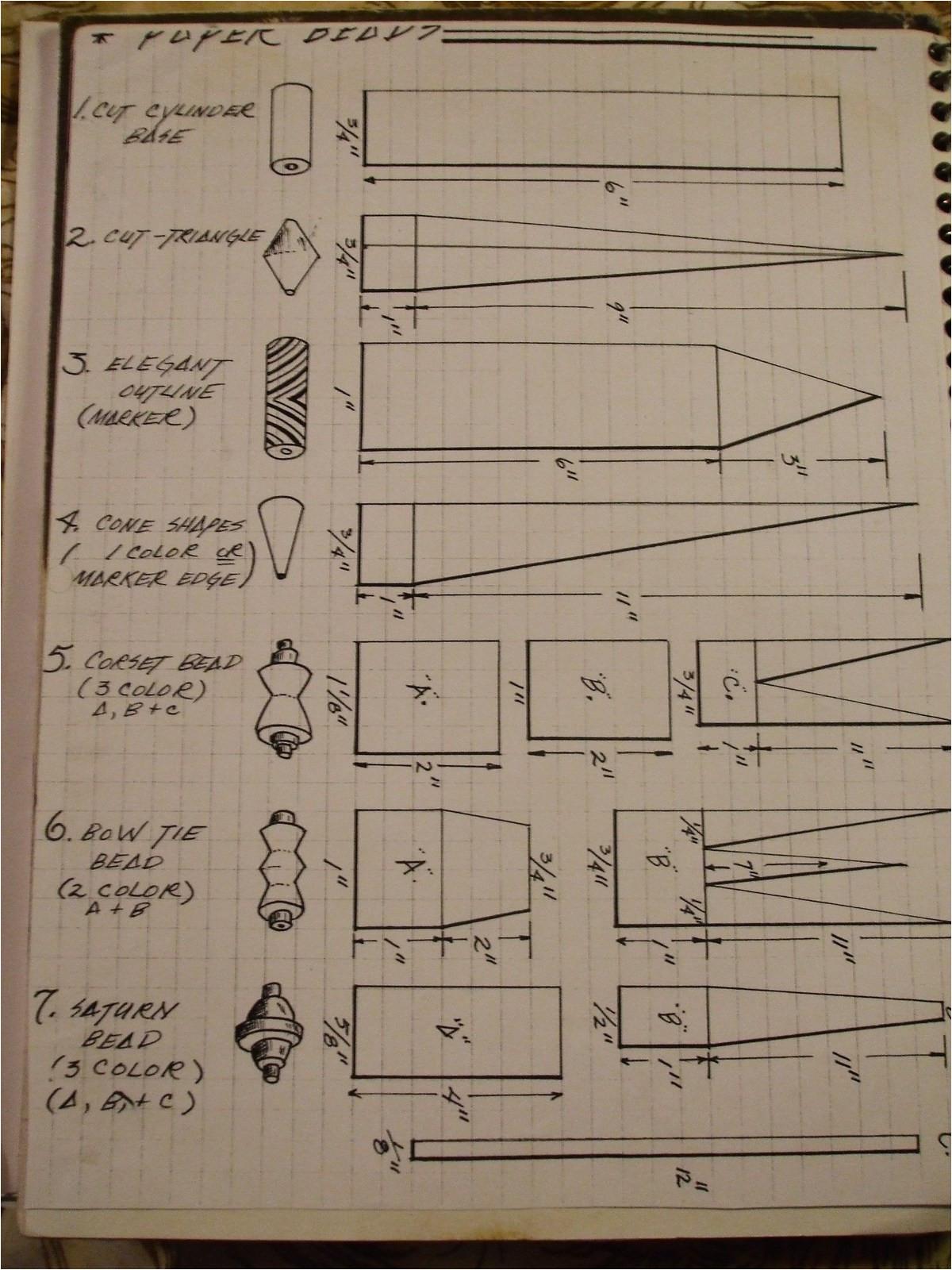 basic paper beadsinstructions
