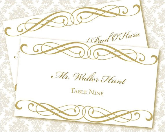 post printable wedding place card templates 385752